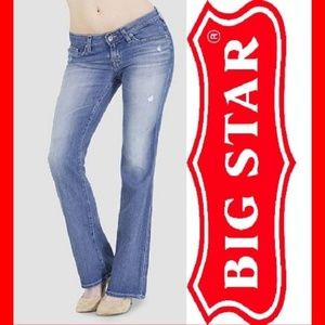 Big Star Remy Low Rise Light Wash Distressed Jeans